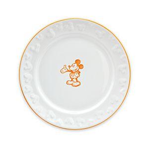 Gourmet Mickey Mouse Dessert Plate - White/Pumpkin