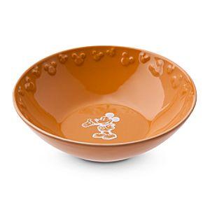 Gourmet Mickey Mouse Bowl - Pumpkin/White