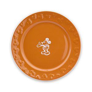 Gourmet Mickey Mouse Dessert Plate - Pumpkin/White