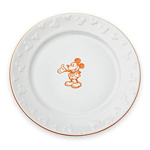 Gourmet Mickey Mouse Dinner Plate - White/Pumpkin
