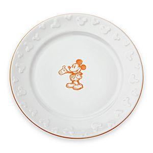 Gourmet Mickey Mouse Dinner Plate - White/Pumpkin