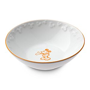 Gourmet Mickey Mouse Bowl - White/Pumpkin