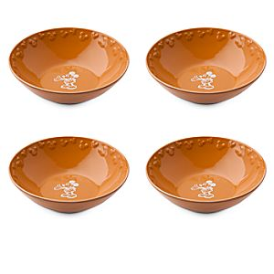 Gourmet Mickey Mouse Bowl Set - Pumpkin/White