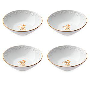 Gourmet Mickey Mouse Bowl Set - White/Pumpkin