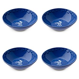 Gourmet Mickey Mouse Bowl Set - Blue/White