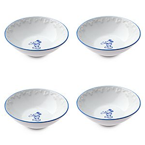 Gourmet Mickey Mouse Bowl Set - White/Blue