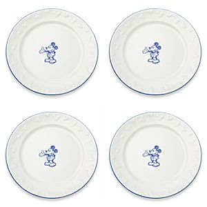 Gourmet Mickey Mouse Dinner Plate Set - White/Blue