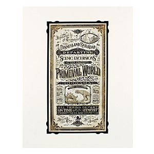 Disneyland Railroad Primeval World Deluxe Print by Jeremy Fulton