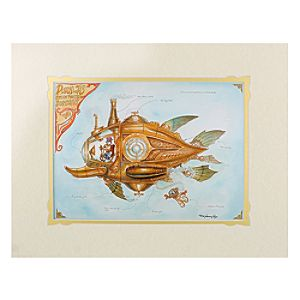 Donald Duck Donalds Steam Powered Submarine Deluxe Print by Mark Page