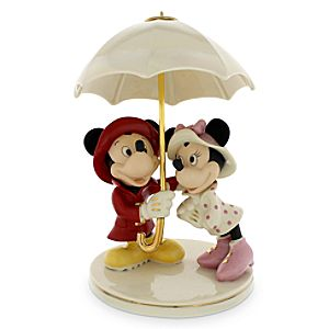 Mickey and Minnie Mouse Singing in the Rain Figure by Lenox