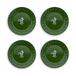Gourmet Mickey Mouse Dessert Plate Set - Green/White