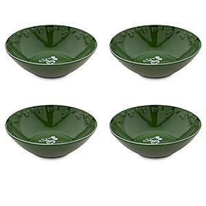Gourmet Mickey Mouse Bowl Set - Green/White
