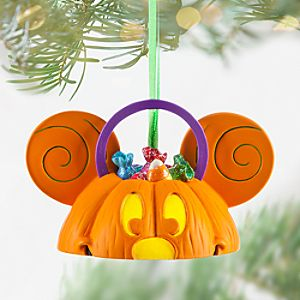 Mickey Mouse Ear Hat Pumpkin Light-Up Ornament