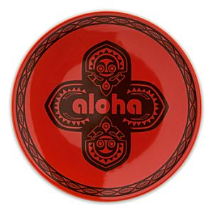 Adventureland Aloha Plate - 7 - Red