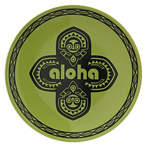 Adventureland Aloha Plate - 7 - Green