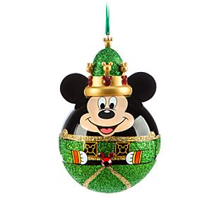 Mickey Mouse Nutcracker King Ornament - Green
