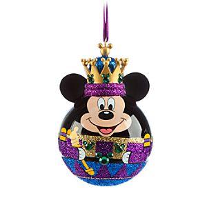 Mickey Mouse Nutcracker King Ornament - Purple