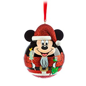 Santa Mickey Mouse Nutcracker Ornament