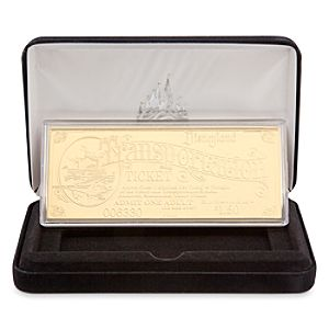 Disneyland Replica 24K Gold Plated Transportation Ticket - Limited Edition
