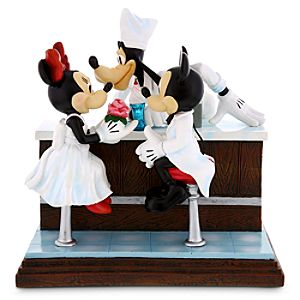 Mickey and Minnie Mouse with Goofy After the Prom Figurine