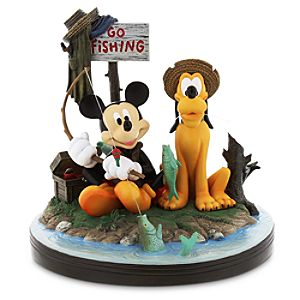 Mickey Mouse and Pluto Gone Fishing Figurine