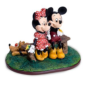 Mickey Mouse and Minnie Mouse Puppy Love Figurine