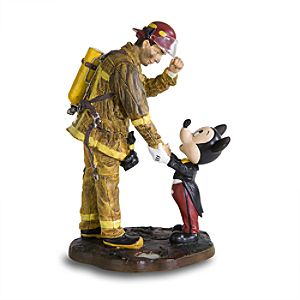 Mickey Mouse and Fireman Figurine