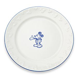 Gourmet Mickey Mouse Dinner Plate - White/Blue