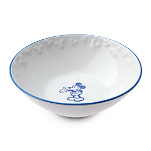 Gourmet Mickey Mouse Bowl - White/Blue