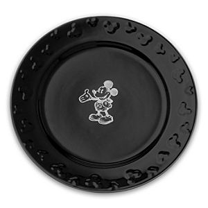 Gourmet Mickey Mouse Dinner Plate - Black/White