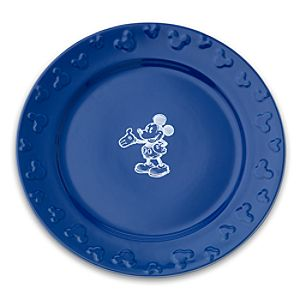 Gourmet Mickey Mouse Dinner Plate - Blue/White