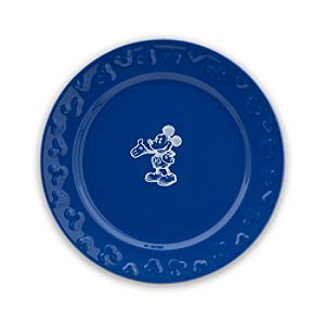Gourmet Mickey Mouse Dessert Plate - Blue/White