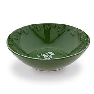Gourmet Mickey Mouse Bowl - Green/White