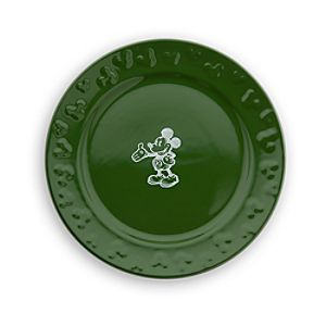 Gourmet Mickey Mouse Dessert Plate - Green/White