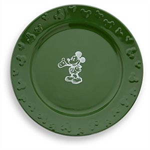 Gourmet Mickey Mouse Dinner Plate - Green/White