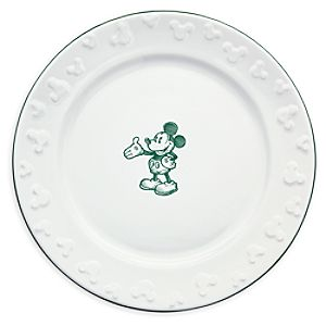 Gourmet Mickey Mouse Dinner Plate - White/Green