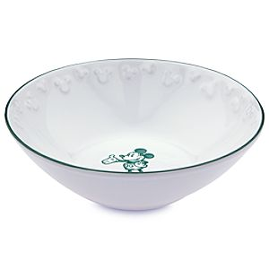 Gourmet Mickey Mouse Bowl - White/Green
