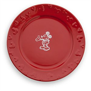 Gourmet Mickey Mouse Dinner Plate - Red/White