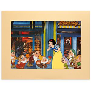 Snow White and the Seven Dwarfs Look What I Got Cel by Disneys Hollywood Studios Ink and Paint - Limited Availability