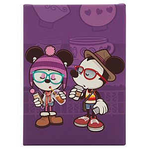 Mickey and Minnie Mouse Hipsters in Wonderland Gicleé by Jerrod Maruyama - Small