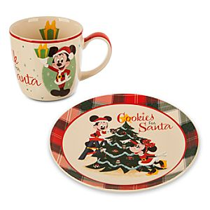 Mickey Mouse Holiday Mug and Plate Set