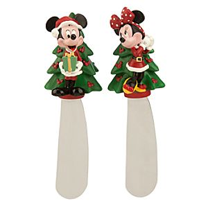Mickey and Minnie Mouse Holiday Spreader Set