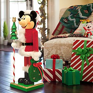 Santa Mickey Mouse Nutcracker Figure - Large