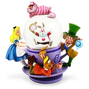Alice in Wonderland Mad Tea Party Snowglobe
