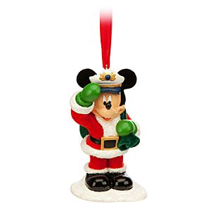 Santa Mickey Ornament - Disney Cruise Line