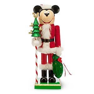 Santa Mickey Mouse Nutcracker Figure - Medium