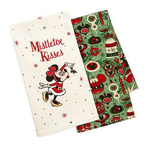 Mickey and Minnie Mouse Holiday Kitchen Towel Set