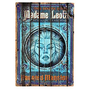 The Haunted Mansion Madame Leota Wooden Sign