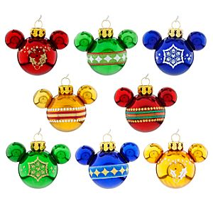 Mickey Mouse Icon Ornament Set - Rainbow