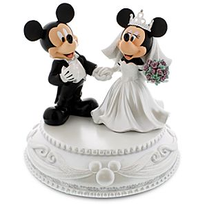 Mickey and Minnie Mouse Wedding Figurine